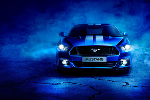 Blue Ford Mustang Wallpaper