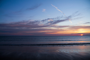 Blue Hour Sunset At Beach 5k Wallpaper