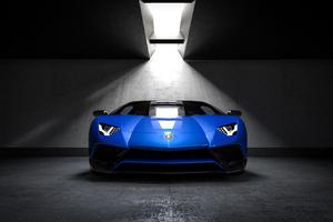 Blue Lamborghini Wallpaper