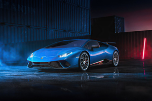 Blue Lamborghini Huracan 4k Wallpaper
