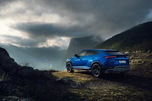 Blue Lamborghini Urus SUV New