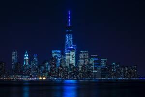 Blue Light Buildings Architecture 8k