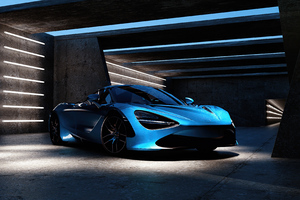 Blue Mclaren 2020 4k Wallpaper