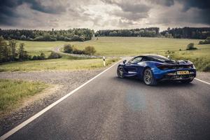 Blue Mclaren Rear 4k