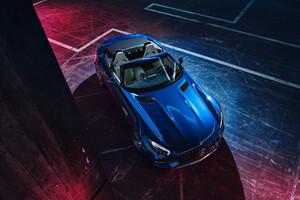 Blue Mercedes Benz Amg GT 2019