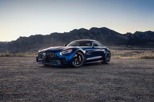 Blue Mercedes Benz Amg GT 4k Wallpaper