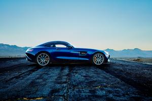 Blue Mercedes Benz Amg GT