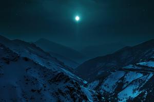 Blue Moon Morning 5k Wallpaper