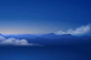 Blue Mountains Clouds 5k Wallpaper