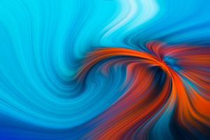Blue Orange Hole 4k Wallpaper