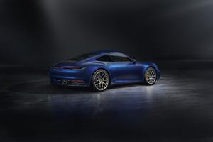 Blue Porsche 911 Rear 5k