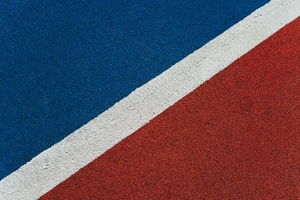 Blue Red Lines Texture 5k