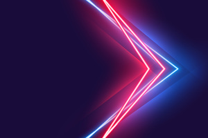 Blue Red Neon Vivid Colors 5k Wallpaper