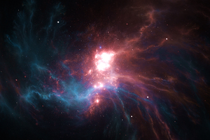 Blue Ruby Nebula 4k Wallpaper