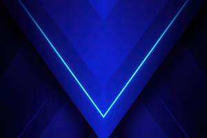 Blue Triangle Abstract 4k Wallpaper