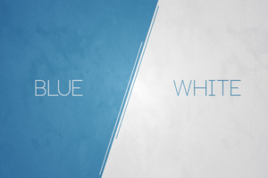 Blue vs white Wallpaper