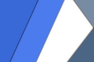 Blue White Material Design 4k