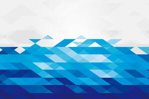 Blue White Pattern Abstract 4k 5k