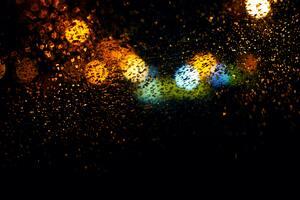 Blur Bokeh Effect Rain 5k
