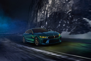 Bmw Concept M8 Gran Coupe Front View 4k