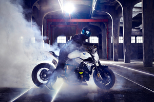 BMW Concept Roadster Bike Drifting Wallpaper
