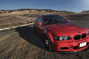Bmw E46 Red Wallpaper