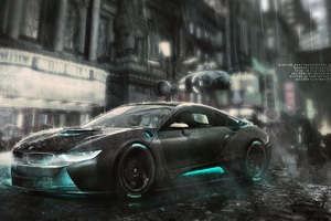 Bmw I8 4k Art Wallpaper
