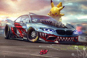 BMW M2 Supercharged Pokemon Wallpaper