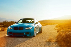 Bmw M3 E92 Blue Wallpaper