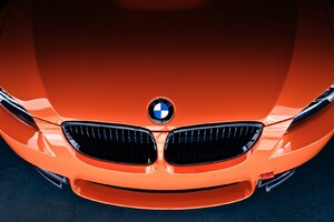 Bmw M3 Front Orange Wallpaper