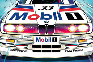 Bmw M3 Rally Car Illustration 5k