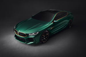 Bmw M8 Upper View Wallpaper
