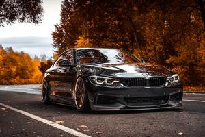 BMW Tuning 4 Series Black Metallic 4k
