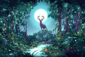 Board Man Moonlit Nights 5k Wallpaper