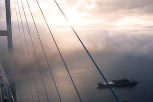 Boat Bridge Clouds