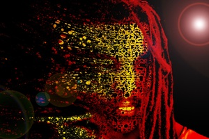Bob Marley Mask Abstract Artwork 4k Wallpaper