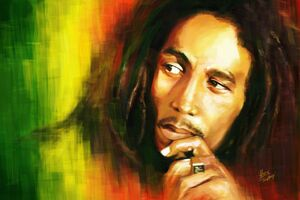 Bob Marley Painting Wallpaper