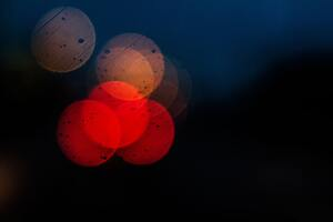 Bokeh Colors Dark Blur 5k