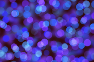 Bokeh Effect Blue Wallpaper