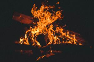 Bonfire Campfire Burning 5k Wallpaper