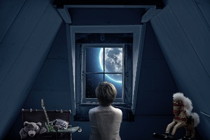 Boy Childhood Memories Dream World Out Of The Window 5k