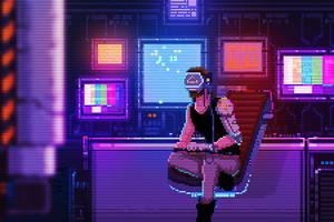 Boy From Neon District 4k Wallpaper