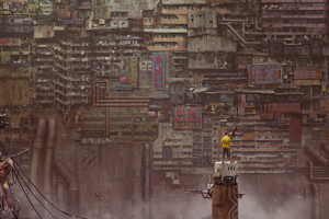 Boy With Gun Apocalypse Kowloon Walled City Art 5k Wallpaper