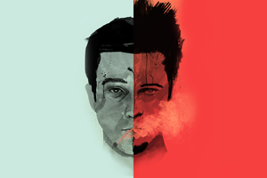 Brad Pitt Two Faces Artwork Wallpaper