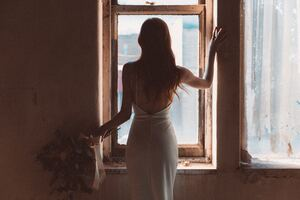 Bride Standing At The Window 5k Wallpaper
