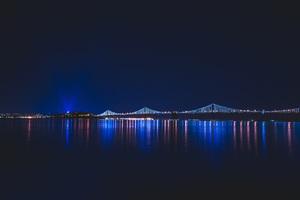 Bridge Night Reflection Wallpaper