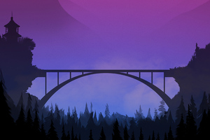 Bridge Sunset Minimal 4k Wallpaper