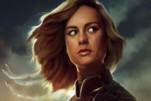 Brie Larson Captain Marvel Artwork