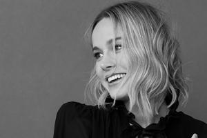 Brie Larson Elle China Monocrhome 4k Wallpaper