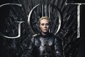 Brienne Of Tarth Game Of Thrones Season 8 Poster